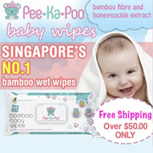 [BUNDLE OF 10 - SAVE UP TO $15] 10 X 80 pcs Baby Wipes With Bamboo Fibre and Honeysuckle Extract