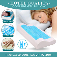 Hotel Quality Memory Foam Cooling Gel Pillow / 4D Curve Pillow / Enhance your sleep