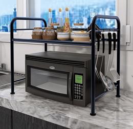 Black Metal Rack for Microwave Oven