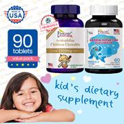 Kids Probiotics Dietary Supplement Fish Oil Cod Liver Prebiotics Digestion Strong Bone