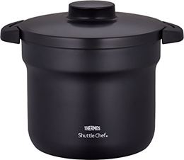 Samos (THERMOS) Samos empty cooker shuttle chef 4.3L (for 4-6 people) black [cooking pot fluorine co