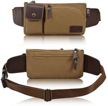 Canvas Waist Pouch Shoulder Bag for Men (34923)