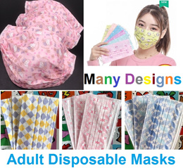 【Adult Disposable Mask】💜3ply Pattern Mask💜Cartoon Characters Face Mask 💜Face Shield💜Sanitizer💜