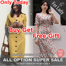 ★[Buy Get Free Gift]★23rd Apr Update New Arrivals ♥Korean Style♥ Linen / Casual Dress / LOOSE Fit  / Basic / Plus size