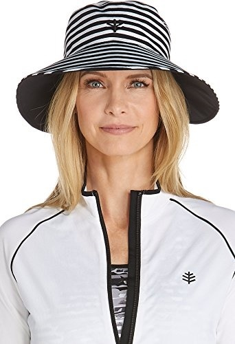 c80517432 Coolibar UPF 50+ Women's Reversible Pool Hat - Sun Protective