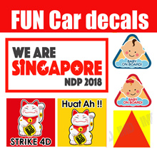 Car DECALS ♥ National day 2018 ♥ P Plate Probationary CCTV Transformer Decals Car Motorcycl