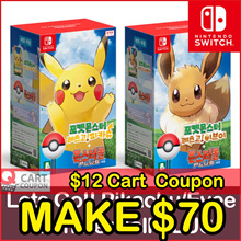 Apply$12 (11~13 Dec)◆Pokemon Lets Go MonsterBall Plus Pikachu Eevee Nintendo Switch