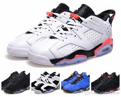 New 2015 Retro 6 Low White Infrared Black Chrome Oreo Blue Men Basketball  Shoes VI Sports e42d5920ae35
