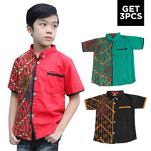 GET 3 PCs - Welans Batik - Child Kebaya - Hem Shirt - LP07 Motif