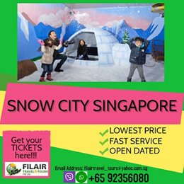 [Fil Air] Best Price Guarantee! $12.00 only for SNOW CITY SINGAPORE(Inclusive of Jackets  Boots)