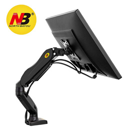 Computer LCD LED Monitor Desk Mount With Adjustable Arm / VESA Display Stand Bracket with Clamp