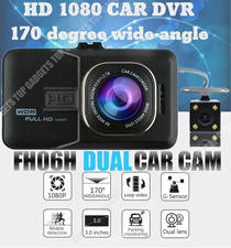 FH06H DUAL CAR CAMERA HD* NIGHT VISION * 12V TO 24V CAR ADAPTER * WIDE ANGLE * CLEAR VIDEO / AUDIO