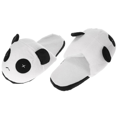 87136cf2903ce Lovely Cute Panda Men Winter Warm Slippers Soft Plush Anti-skid Indoor Home  Cotton Slipper