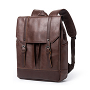 20L Laptop Leather Backpack Computer Backpack Student Backpack / PU Leather