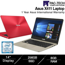 Brand New Asus Vivobook X411UA| i5-8th Generation| 8GB RAM 256GB SSD|14Inch Anti Glare/1 Year Asus W