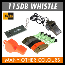 whistle at 115 dB many design survival dura flex whistle