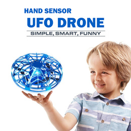 UFO Flying Toys for Kids Hand Controlled Mini Drone UFO Toy