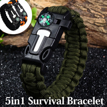 5 in 1 Outdoor Survival Paracord Bracelet AdventuresLashingsFirstAidMountaineeringClimbing