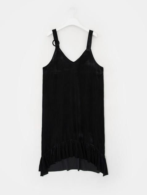 8SECONDS Velvet Corduroy Pinafore Dress - Black