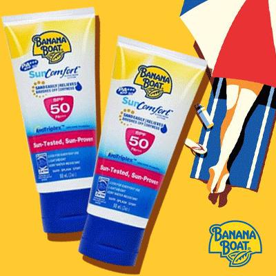 Banana Boat Suncreen / Sunblock Sun Comfort SPF50 90ml Deals for only Rp89.000 instead of Rp150.847
