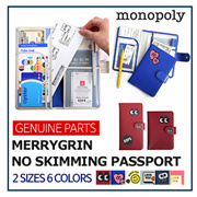 [Monopoly] ★ MERRYGRIN NO SKIMMING PASSPORT ★  Travel Essential Identity Protection Cute Design