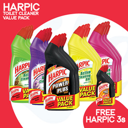 [RB] 【12.12 Special BUY ANY FREE 3 (Worth $7.45)】Harpic Toilet Cleaning- Active Cleaning Gel!