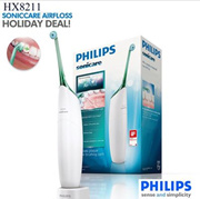 Philips Sonicare Airfloss Rechargeable HX8211 Nozzle Water Floss Portable Microburst for braces care