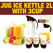 Jug ice kettle 2L with 3cup
