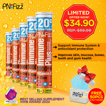 🌟 BUNDLE OF 5 🌟 PNFizz Vitamin C Immunity Booster | LIMITED QUANTITY! With Free Masks!