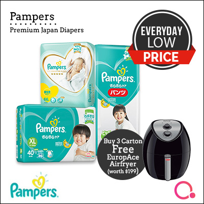 [PnG] BUY 3 CARTON GET EUROPACE 3.2L AIR FRYER WORTH $199! Baby Dry Diapers/Premium Care Pants/Tape Deals for only S$294 instead of S$294