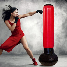 160cm Inflatable Stress Punching Tower Bag Boxing Free Standing Water Base with Pump