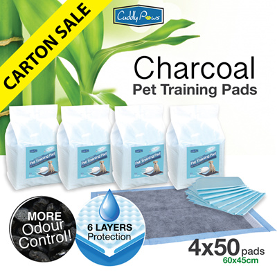 f310679fae9bb  200PCS  Cuddly Paws Charcoal Ultra-absorbent Pets Training Pads with Odour  Control 60x45cm