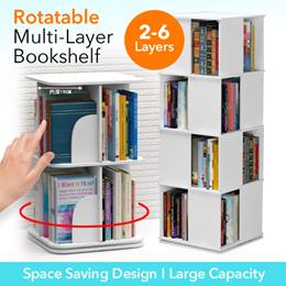 Rotatable Bookshelf /Multi-layer Bookshelf / Space saving Bookrack/ Big Volume Book rack