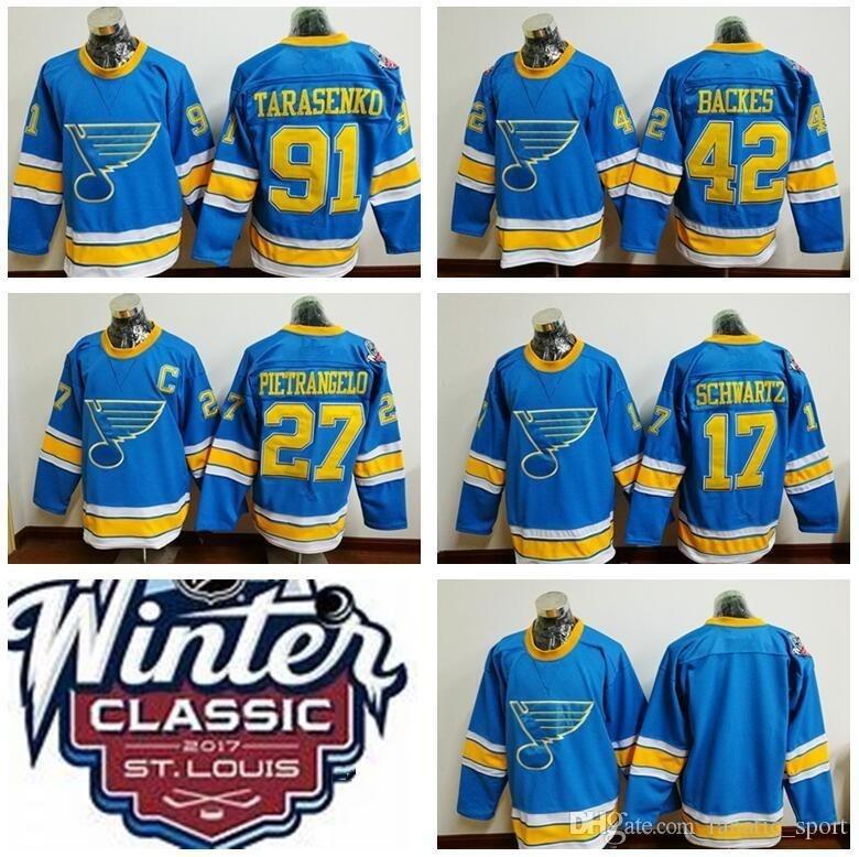 best website 65ba8 a1f93 Ice Hockey 2017 Winter Classic Jerseys St. Louis Blues 91 Vladimir  Tarasenko 42 David Backes 27 Alex