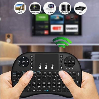 i8 2.4GHz Wireless Mini Qwerty Keyboard Mouse Touchpad with Receiver For PC Smart TV PS4