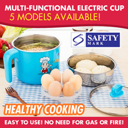 Multi-Functions Portable Electric Cup/Mini Cooker♥Suit for everyone/work/travel/hostel/electric save