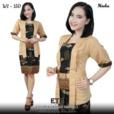 Ekaya Kebaya Tops And Skirts Jumbo Batik Short Span Women