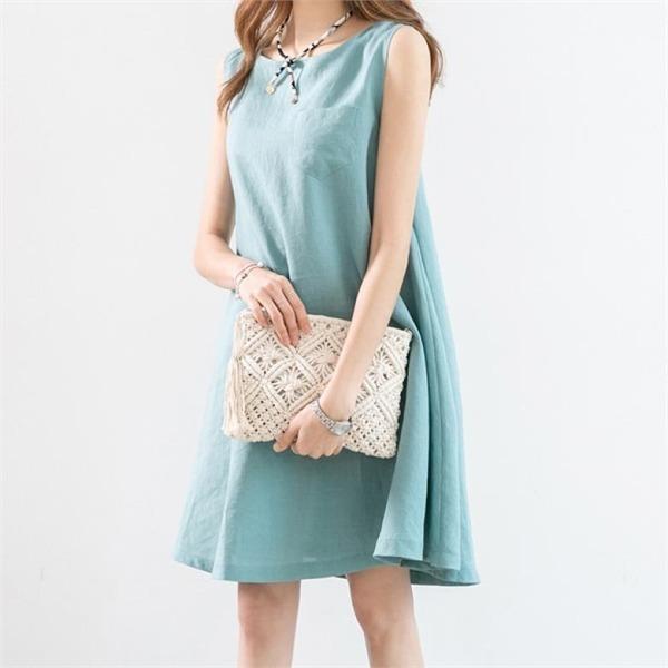 ピピンヒルリアリンネンワンピース34016 new ミニワンピース/ワンピース/韓国ファッション