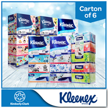 [BUNDLE of 6] Kleenex 3Ply Facial Tissues - Floral/Natural/Classic/Garden/Vintage/Supreme