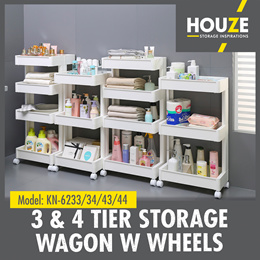 ONLINE EXCLUSIVE ♦ 3 And 4 Tier Storage Wagon With Wheels ♦ Strong And Durable ♦ 100% Virgin PP
