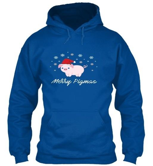 メリーPigmasおかしい豚クリスマスGildan Hoodieのスウェットシャツ