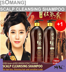 1+1 EVENT![Somang] 紅蔘秀 Scalp Cleansing Hair Shampoo 730ml + 730ml / Red Ginseng Extract / Scalp Car