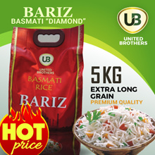 Basmati Rice- 5Kg Bag (Diamond) - Bariz