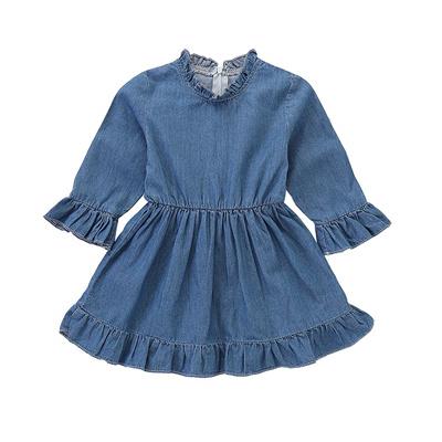 77a6db1d YOHA Baby Girls Denim Soft Jumper Dress Suspender Skirts Pinafore Tutu Dress