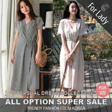 ★[Buy Get Free Gift]★18th Update ♥Korean Style♥ Linen / Casual Dress / LOOSE Fit  / Basic / Plus Size