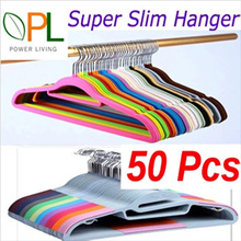Big Sales ! 50 Pcs Magic Velvet Clothes Hanger  Non-Slip Clothes Hanger Home Power S Type Hanger !