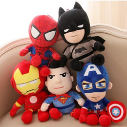 Marvel and DC Superhero Plush Toys / Soft Toys / Superman / Batman / Captain America / Iron Man / Spiderman