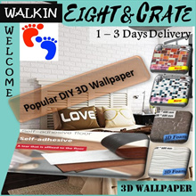 🇸🇬{4-hrs delivery option} 3D WallPaper / Tiles/floor sheet🇸🇬  3D self adhesive  wallpaper/Tiles