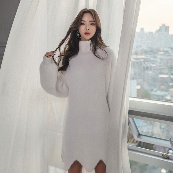ピクシュ波・ファーニット・ワンピースnew ニットワンピース/ワンピース/韓国ファッション