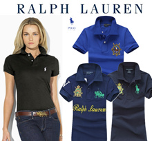 【Sale-Hot Raph-Laren19 Designs】*Custom Fit*slim*100% Cotton Women Polo Shirt Short Sleeve